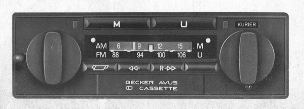 Becker Avus Cassette for Merc. Benz 190 (201), until 1985