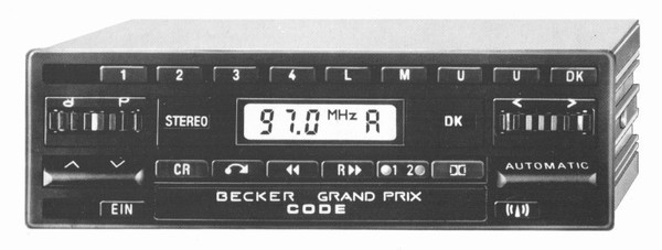 Becker Grand Prix Cassette Electronic for Mercedes Benz 190 (201) 1985-90