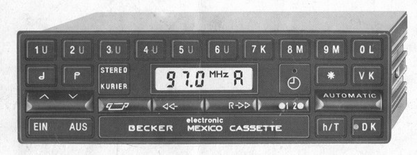 Becker Mexico Cassette Electronic for Merc. Benz 190 (201) until 1984