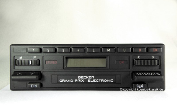 Becker Grand Prix Electronic without cassette for Mercedes Benz 190 (201) 1985-90