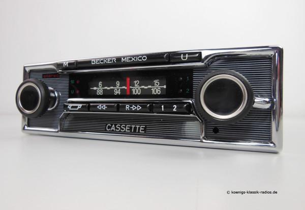 Becker Mexico Cassette Vollstereo Autoreverse in pinstripe design for W108 / W109
