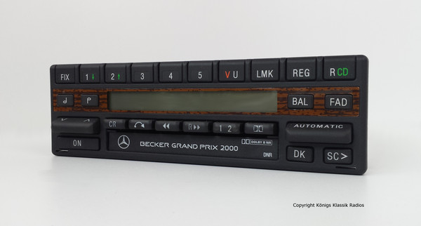 Becker Grand Prix 2000 / 4-channel-version with rare wood design