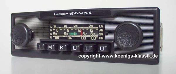 Becker Europa pin stripe design with black trim plate