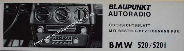 Blaupunkt Frankfurt for BMW 520 and 520i