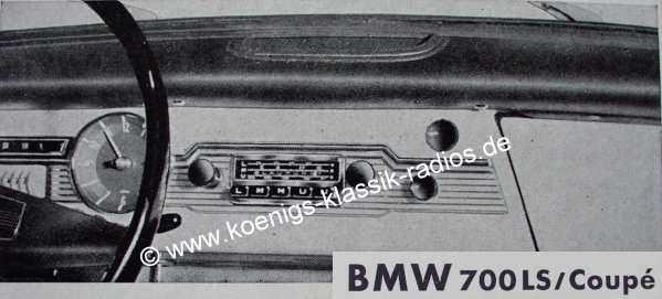 Blaupunkt Frankfurt für BMW 700 LS / Coupe