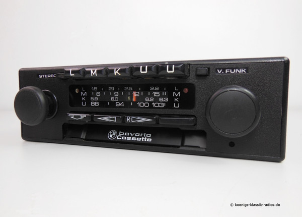 Becker BMW Bavaria full stereo kurier suitable for many BMW vehicles from the late 70s + 80s