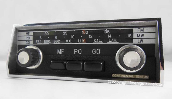 Continental Edison radio for Citroen DS up from 1970