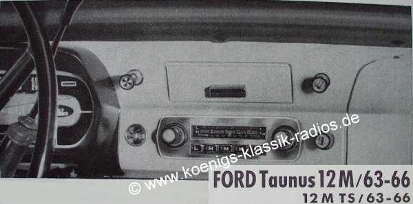 Blaupunkt Frankfurt for Ford Taunus 12M, 1963-66