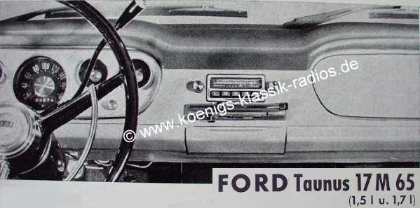 Blaupunkt Frankfurt for Ford Taunus 17M /65