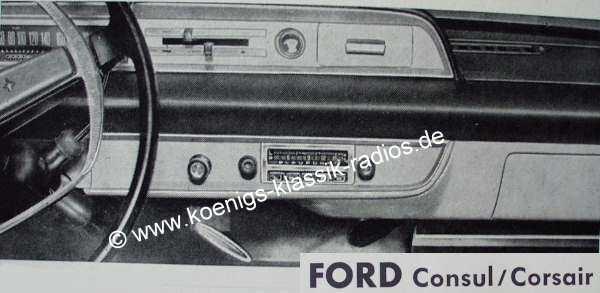 Blaupunkt Frankfurt for Ford Consul / Corsair