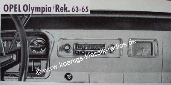 Blaupunkt Frankfurt für Opel Olympia Rekord 1963-65