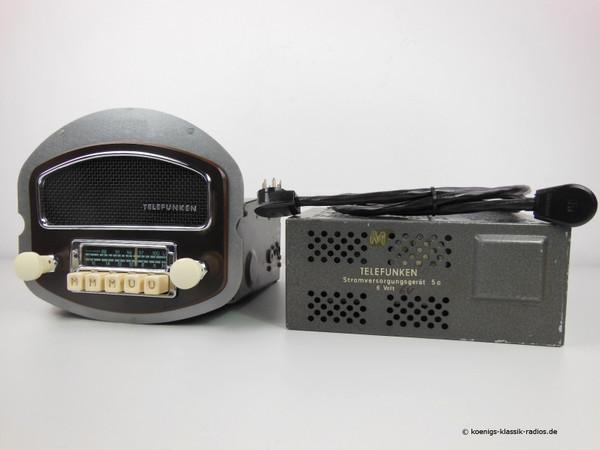 Telefunken original radio for Porsche 356 Pre A, 1954-55 with patina