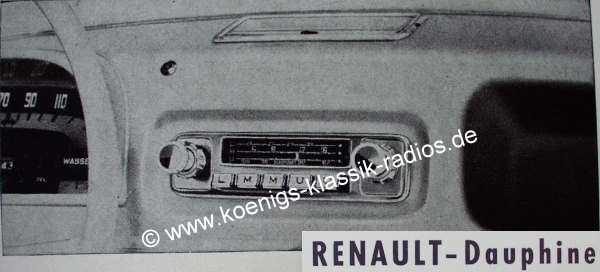 Blaupunkt Frankfurt für Renault Dauphine