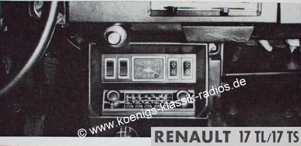 Blaupunkt Frankfurt für Renault 17