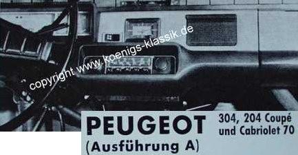 Blaupunkt Frankfurt für Peugeot 304 + 204