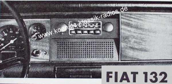 Blaupunkt Frankfurt für Fiat 132