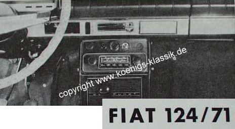 Blaupunkt Frankfurt für Fiat 124 /71