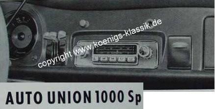 Blaupunkt Frankfurt für DKW 1000 Sp, F93, F94