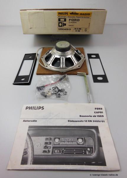 Radio Einbausatz von Philips für Ford Capri ab 1969