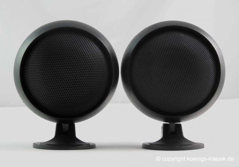 Retro spherical speakers for cars of the 70s (pair)