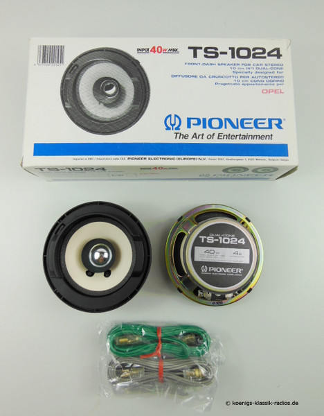 Pioneer Lautsprecher-Set TS-1024 für Opel Corsa vorne - Ø 10,2 cm