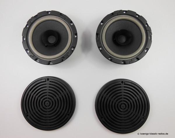 Hecklautsprecher - Set mit Blende für W107 SLC, W116, W123