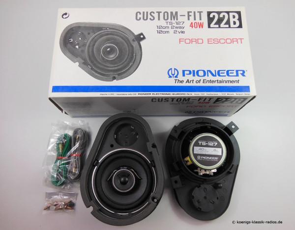 Pioneer Lautsprecher Set TS-127 - Ø 12,0 cm, 2 Wege für Ford Escort / Orion