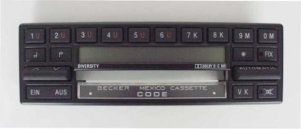 Aufsatz mit Display Becker Mexico Cass. 830