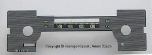 Skalenscheibe für Becker Mexico Cassette 1.Serie #169V1010