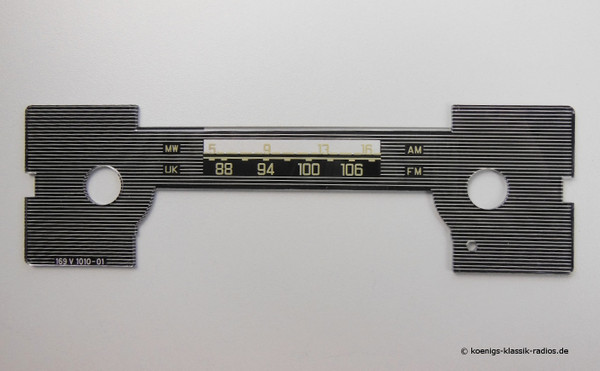 Dial scale Becker Mexico Cassette 1.serie without balance control cutout (#169V1010-01)