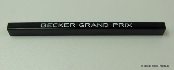 Schriftzug Becker Grand Prix, gerade Bauform