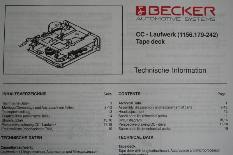 schaltplan cc laufwerk k nigs klassik radios. Black Bedroom Furniture Sets. Home Design Ideas