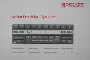bedienungsanleitung grand prix 2000 typ 1305 dokumente. Black Bedroom Furniture Sets. Home Design Ideas