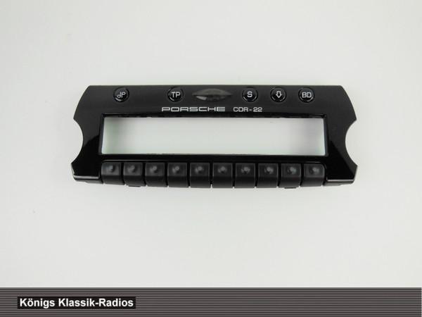 Original Becker Radio Blende für Porsche CDR-22 - NOS