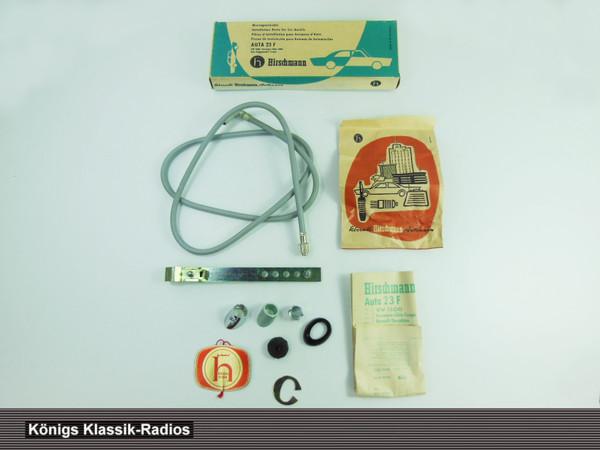 Original Hirschmann Auta 23 F Antennen Einbausatz für VW 1500, Karmann Ghia 1200