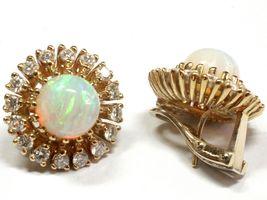 Opal-Brillantohrringe