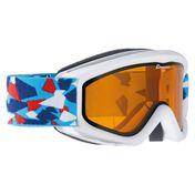Alpina Kinder Skibrille Snowboardbrille Schneebrille CARAT DH, white-konfetti