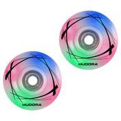 HUDORA 2 LED Ersatzrollen, 58mm x 33mm für Roller Skates