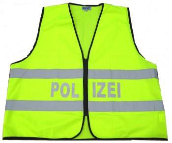 Warnweste Polizei gelb-silber