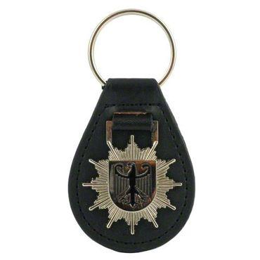 Schlüsselanhänger Bundespolizei Polizeistern Metall-Leder
