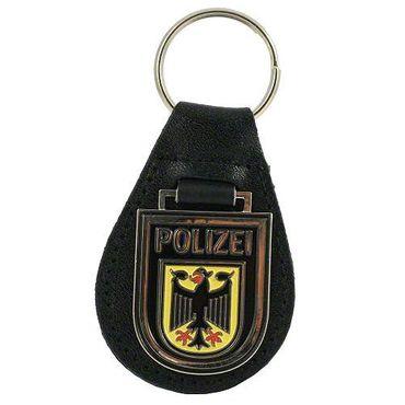 Schlüsselanhänger Bundespolizei Hoheitsabzeichen Metall-Leder