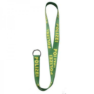 Schlüsselband POLIZEI (grün-gelb)