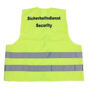 Warnweste Sicherheitsdienst Security neongelb