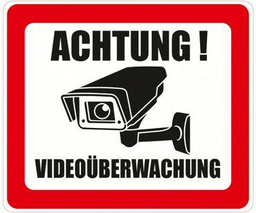 ACHTUNG! Videoüberwachung Aufkleber