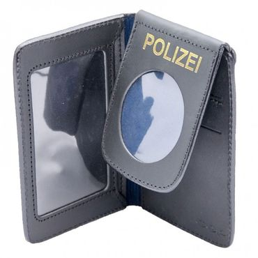 Ausweishülle Polizei Leder