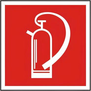 Brandschutzschild Symbol Feuerlöscher BGV A8 , verschiedene Varianten - F 05