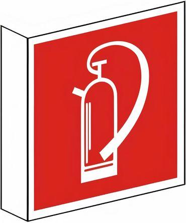 Fahnenschild zweiseitig bedruckt mit 2 Symbolen Feuerlöscher nach BGV A8 / F 05