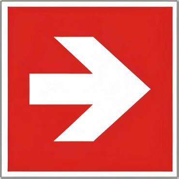 Brandschutzschild als Symbol Richtungsangabe links / rechts nach ISO 7010 / E 005 versch. Varianten