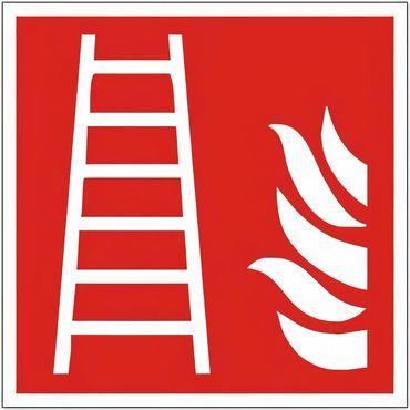 Brandschutzschild als Symbol Leiter nach ISO 7010 / F 003 versch. Varianten