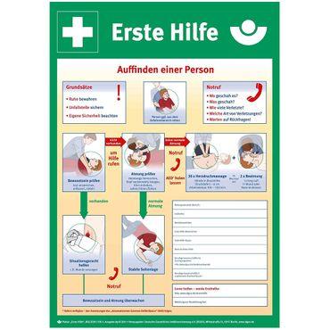 """Schild Sicherheitsaushang """" Anleitung zur Ersten Hilfe """" - Kunststoff 1 mm - Größe 400 x 562 mm"""